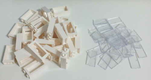 Brand New 30 Pcs 1x2x3 White Window Trans Clear Glass Compatible with