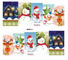 Nail Art Sticker Water Transfer Stickers Xmas Snowman Christmas (DS161)