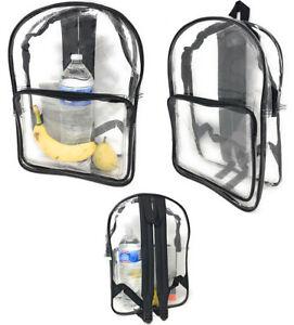 Details About 1 Dozen Clear Transpa Backpack Book Bag School Security Tsa Whole Bulk