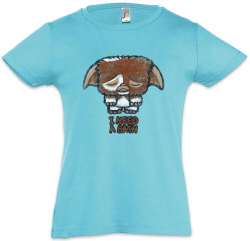 I NEED A BATH Kids Girls T-Shirt Fun Gremlin Gremlins Symbol Light Fun Gizmo