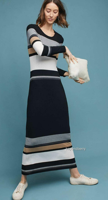 NEW Anthropologie Norwich Striped Maxi Dress by Bailey 44  Size S-M-L