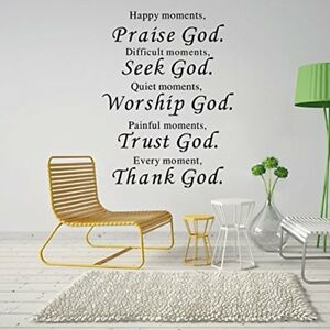 Details About Wall Vinyl Art Religious Inspirational Spiritual Home Decor Decal Sign