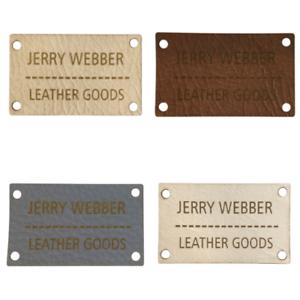 50 x 30mm Rettangolo grandi dimensioni patch in finta pelle Etichette Cartellini Etichette personalizzate.
