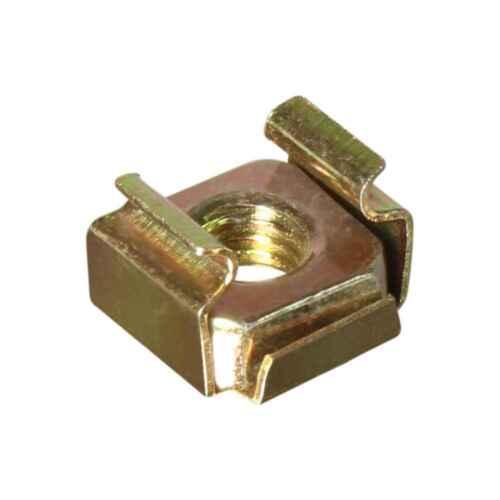 Käfigmutter Stahl Rackschiene Unterlegscheibe Kragen 16x Rackschraube M6 x 12