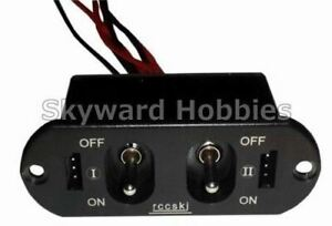 HEAVY DUTY DUAL POWER SWITCH for RC Planes
