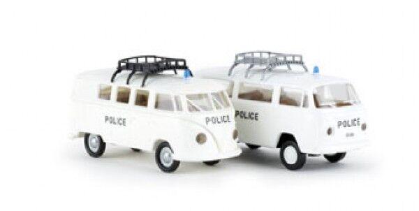 1 87 Brekina VW T1 b + VW T2 Police Police Police Waadt Vaud CH 2er SET 99294 64c73d