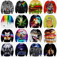 3D Print T Shirt Funny Men Women Hoodie Sweater Sweatshirt Pullover Top Jumpers