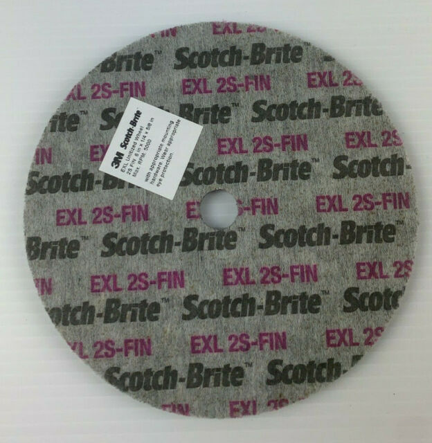 "1 Each 3M Scotch-Brite 6/""x1//4/""x5//8/"" 2S Fine EXL Unitized Wheel 15832"