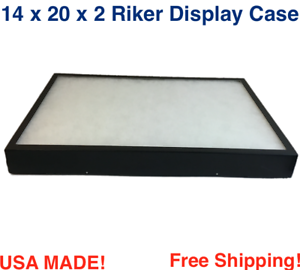 2 Pack of 8 x 14 x 1 1//2 Riker Display Case Box Collectibles Arrowheads Jewelry