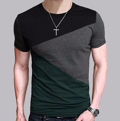 Mens T Shirt Slim Fit Crew Neck T-shirt Men Short Sleeve Shirt Casual Tops Mens