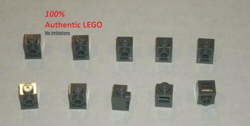 4211044 Brick 4070 10x LEGO NEW 1x1 Dark Stone Grey Brick with Headlight