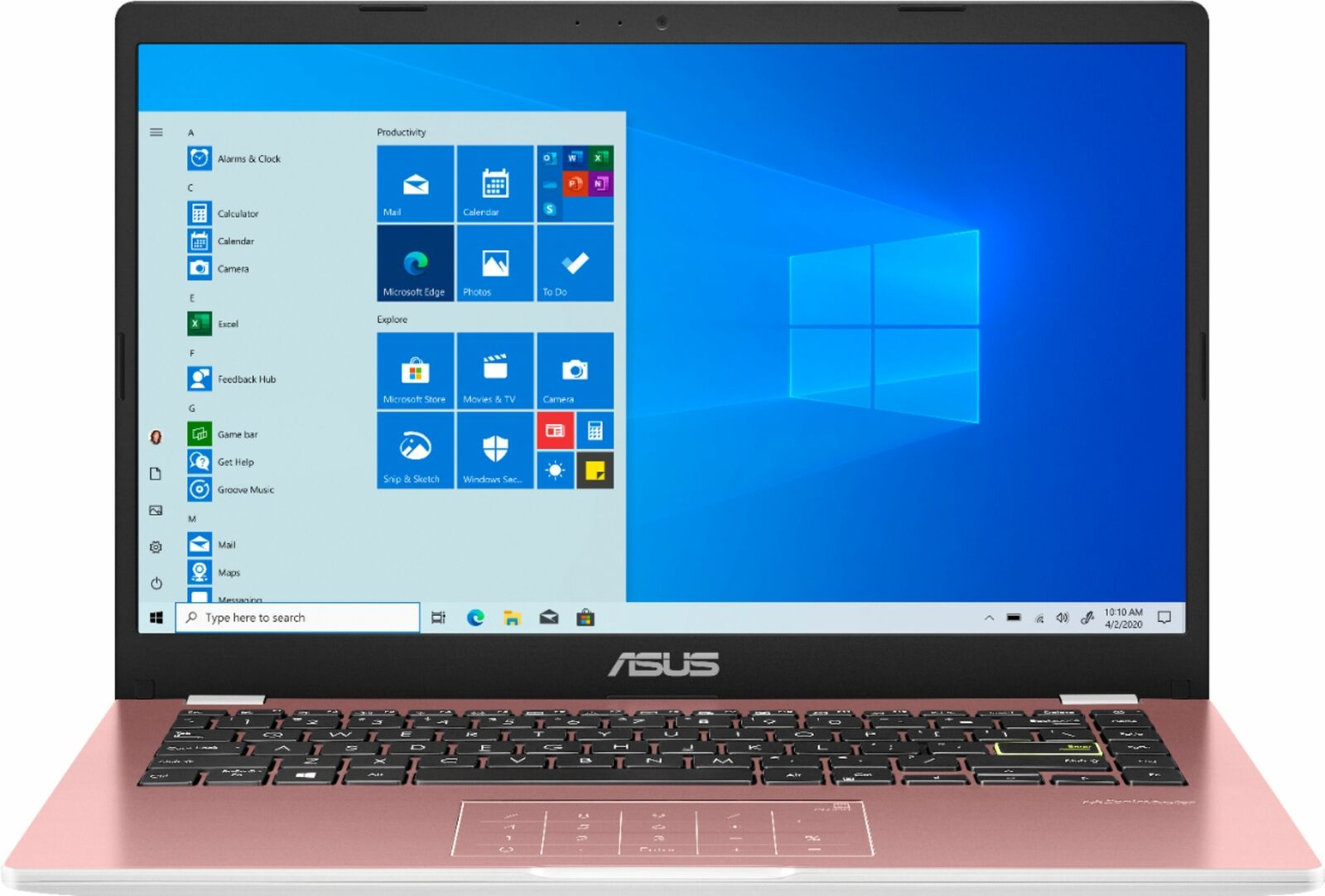 """ASUS - 14.0"""" Laptop - Intel Celeron N4020 - 4GB Memory - 128GB eMMC - Pink"""