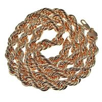 Rope Chain Rose Gold Finish 10 Mm Thick 30 Long Twisted Heavy Dookie Necklace