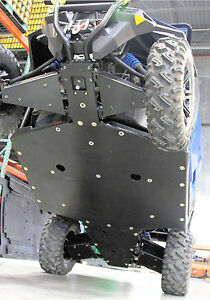 Polaris General With Rock Sliders Rockers Uhmw Skid Plate