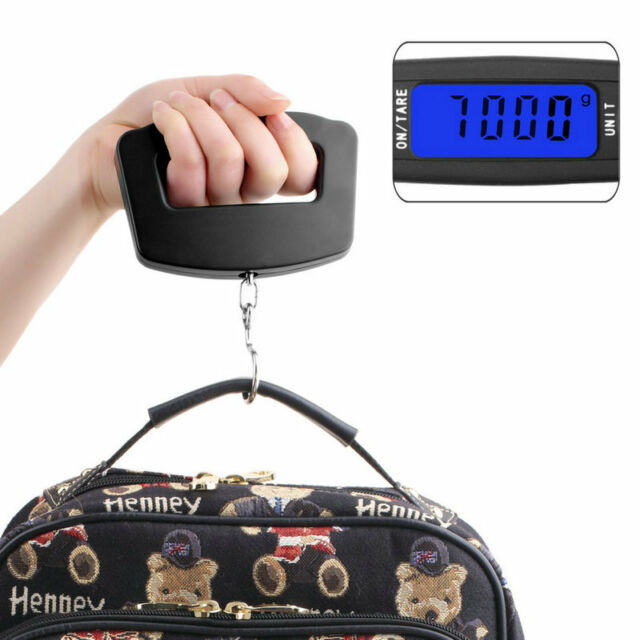 50Kg/10g LCD Digital Electronic Portable Hanging Luggage Weight Wide Hook Scale
