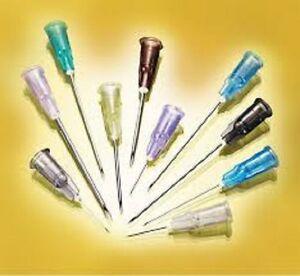 Needle-Nipro-Hypodermic-Needles-Box-of-100-All-Sizes-Gauges-Luer-Lock-No-Syringe