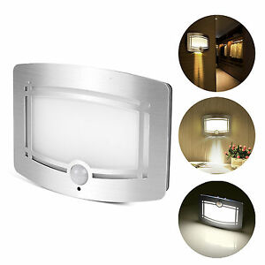 Image is loading Motion-Sensor-Activated-LED-Wall-Sconce-Battery-Operated-  sc 1 st  eBay & Motion Sensor Activated LED Wall Sconce Battery Operated Wireless ...
