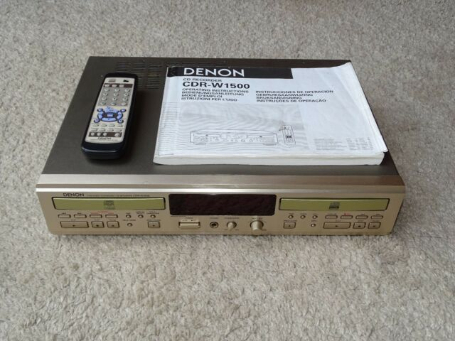 Denon cdr-w1500 high-end CD-grabador, champaña, HDCD, fb&bda, 2j. garantía