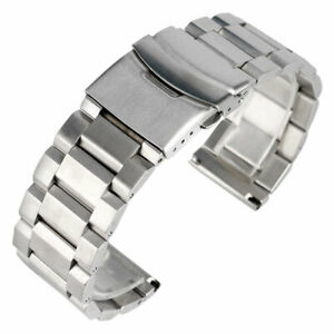 Black-Gold-Blue-18-20-22-24mm-Solid-Stainless-Steel-Watch-Band-Strap-Bracelet