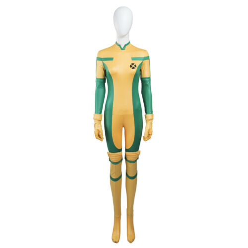 Ms.Rogue Marie Zentai Bodysuit Cosplay Costume Halloween Outfits Full Set