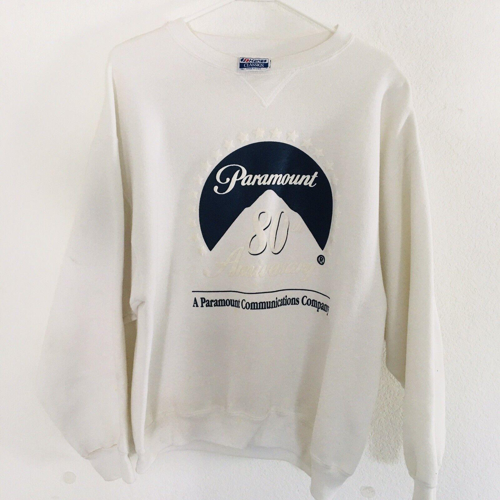 Paramount 80th Anniversary Sweatshirt Sweater 1992 Tag Hanes Classics XL USA 90s