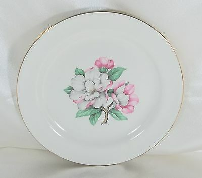 Vintage Salad Luncheon Plate Cunningham & Pickett Magnolia Ivory Homer Laughlin