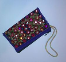 Handmade Traditional Wedding Gift Pouch Jewelry Bag Zip Purse beaded mobile pen