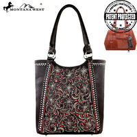 Montana West Concealed Carry Purse Right & Left Draw Western Concealment Brown