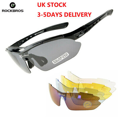 ROCKBROS Polarized Sports Sunglasses UV Protection Cycling Glasses White Grey
