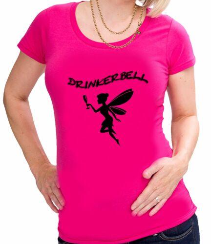 DRINKERBELL TRINKERBELL FEE TRINKERFEE  Damen  Lady Girly SHIRT T-SHIRT  S-2XL