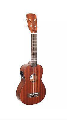 Laka VUS50 Soprano Ukulele with on board  Tuner & Aquila Strings..FREE P&P UK