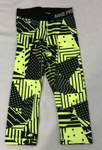 Talla Athletic Nike Black 4th 22x18 Xs 3 Neon Capri Pro Excelente Active Leggings qFTzAq