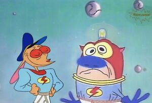 Ren & Stimpy Original 1990's Production Cel Animation Art Black Hole
