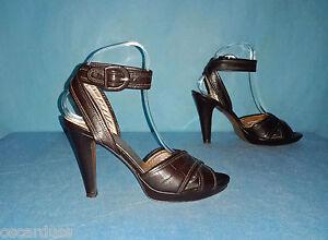 sandali ZAPA 100% pelle marrone taglia 38 stato perfetto