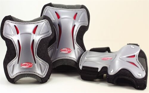 Roller Derby Bone Shieldz Deluxe 515503 Knee Elbow Wrist Guards Adult Large