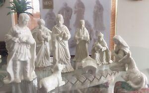 Mikasa Porcelain 9 Piece Ivory Nativity Set Christmas Ebay