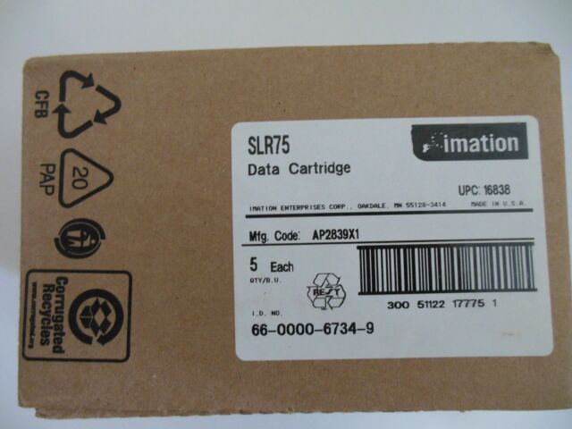 5 Pack NEW Imation 16838 SLR75 SLR 35/75GB Data Tape Cartridges Factory sealed