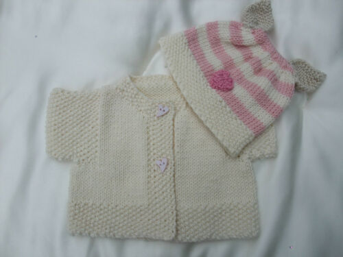 PAPER KNITTING PATTERN TO MAKE *IT/'S A COVER UP* 4 COATS /& HATS FOR BABY//REBORN