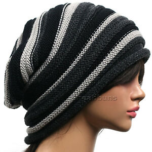 men women beautiful designer Slouch BEANIE head wrap winter Hats ski ... df7275e5221