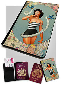 Pin Up Girl Comic Printed Faux Leather Passport Holder Cover Case Alt Model Ebay