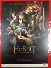 IAN McKELLEN ORLANDO BLOOM - HOBBIT THE DESOLATION OF SMAUG - Polish promo FLYER