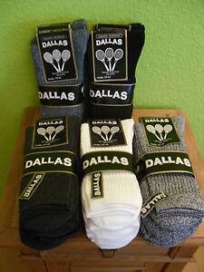 15-Paar-Dallas-Tennis-socken-92-Baumwolle-Outdoorsocken-Arbeitssocken-60-Grad