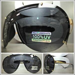 cf3766291378 Image is loading Wrap-Shield-Aviators-Style-Men-Designer-Fashion-Luxury-