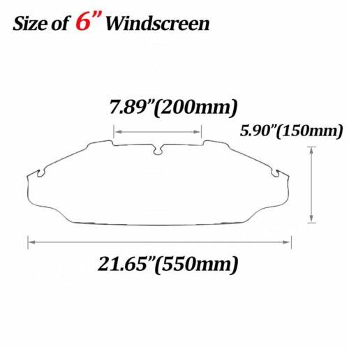 "6/""//8/"" Wave Windshield Windscreen For 96-13 Harley FLHT FLHR FLHX Glide Touring"