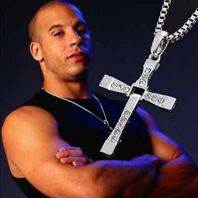New Unisex's Men Stainless Steel Cross Pendant Necklace Chain Silver/Gold