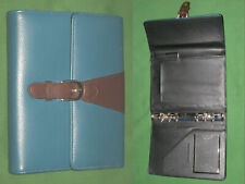 Compact 075 Blue Faux Leather Day Runner Planner Binder Franklin Covey