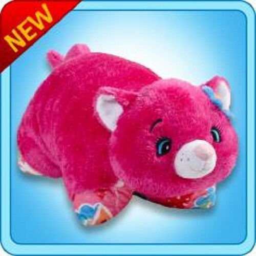 Pink plush blacklight reactive flower power my pillow pets cat ebay mightylinksfo