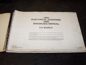 1993 Chevy K1500 K2500 K3500 Silverado Truck Electrical Wiring Diagram Manual Ebay