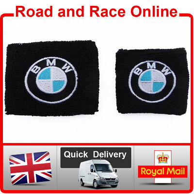 Pair BMW Brake Reservoir Socks Reservoir Covers Embroidered Cotton BMW S1000RR