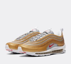 a1a75b2595 Genuine Nike Air Max 97 OG Gold/Silver Size UK 8 Trainers Sealed ...